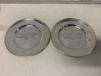 Gorham Sterling Silver Mastiff Club of America 1968 Dog Show Winner Plates