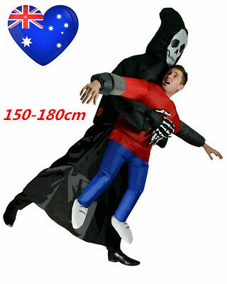 Ghost Grim Reaper Inflatable Halloween Costume Adult Novelty Funny Blow Up K354