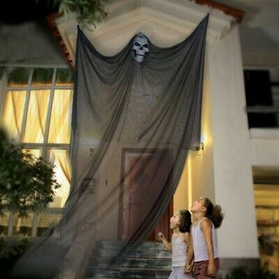 10FT Skeleton Ghost Hanging Halloween Ghost Scary Skull House Props Decoration