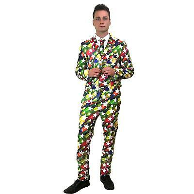 Stand Out Star Suit Stag Do Fancy Dress Party Outfit Funny Comedy Costume