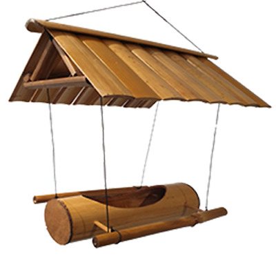 Vie Naturals Bird Feeder, Bamboo With Roof & Swinging Approximately 40 CmHanging