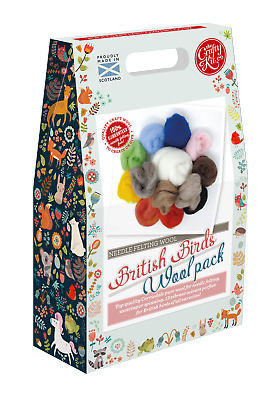British Birds Felting Wool Pack by The Crafty Kit Company