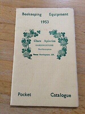 Beekeeping Equipment Catalogue Clare Apiaries 1953