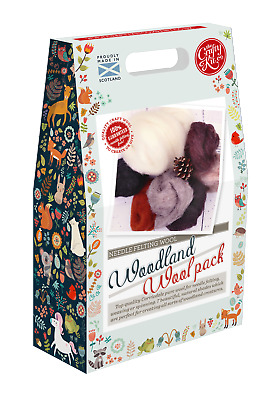 Woodland Felting Wool Pack by The Crafty Kit Company