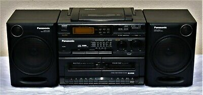 Panasonic RX-DT610 Portable Stereo Boombox Ghetto Blaster CD Cassette Radio