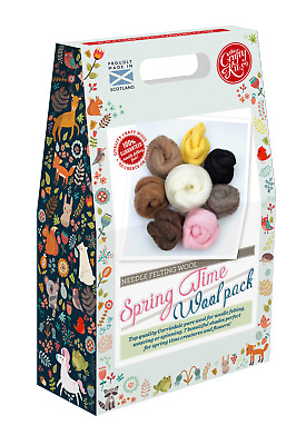 Spring Time Felting Wool Pack by The Crafty Kit Company