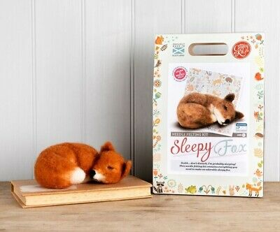 Sleepy Fox Needle Felting Kit by The Crafty Kit Company