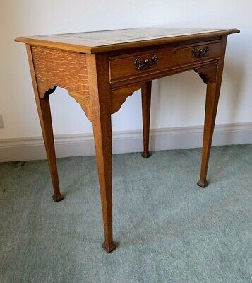 Rare Original Arts and Crafts Oak Writing Desk Table