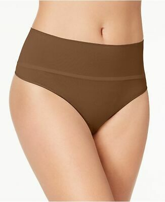 Spanx Size XL NWT Brown Everyday Shaping High Waisted Seamless Thong Panty AH35