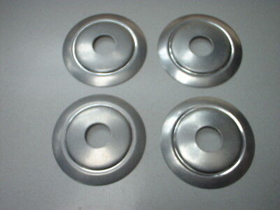4 x 75 mm SPUN ALUMINIUM TABLE LAMP PARTS / VASE CAP / SPACER / BACK PLATE