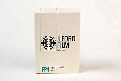 "Ilford Fp4 2 1/2 x 3 1/2 sheet film. Or ""sixth-plate."" Very expired. Very rare."