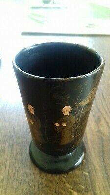 19th Century Meiji Japanese Paper Mache Lacquer Cup