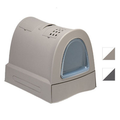 IMAC Zuma Anthracite Or Grey Colour Covered Cat Litter Box + Free Carbon Filters