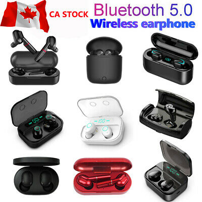 Bluetooth 5.0 Headset TWS Wireless Earphones Mini Earbuds Stereo Headphones CA