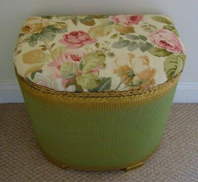 Lloyd loom style Vintage Laundry Basket. COLLECTION ONLY. Sanderson chelsea.