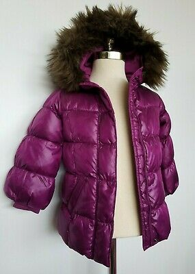 Baby Gap Girls Warmest Jacket Coat Down Purple Size 4T NWT