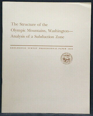 USGS OLYMPIC MOUNTAINS WASHINGTON Analysis of a SUBDUCTION ZONE Vintage1978