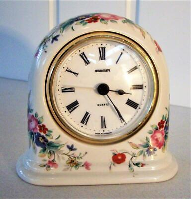 Vintage Floral Porcelain Clock - Quartz Movement