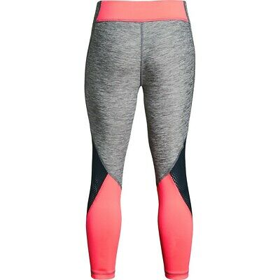 Under Armour Finale cropped capris leggings NWT girls' L YLG gray pink