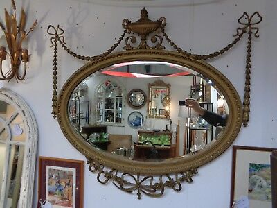 Antique Georgian Regency Gilt & Gesso Mirror