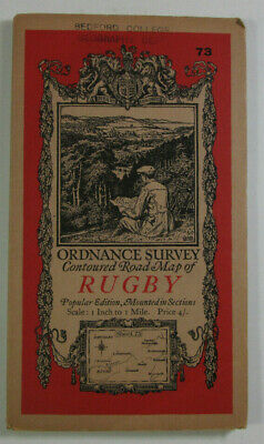 1920 Old Vintage OS Ordnance Survey Popular Edition One-Inch diss Map 73 Rugby