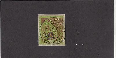 """Diego Suarez  #4  On A Piece   Used  1890 - """"Stamps Of French Colonies"""""""