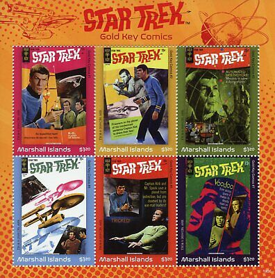 Marshall Islands 2019 MNH Star Trek Gold Key Comics Spock Kirk 6v M/S Stamps