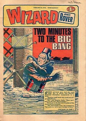 BRITISH WIZARD and ROVER COMIC 24TH FEBRUARY 1973
