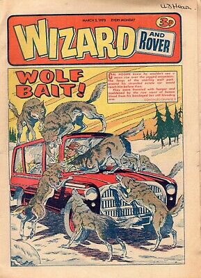 BRITISH WIZARD and ROVER COMIC 3RD MARCH 1973