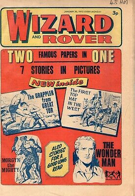 BRITISH WIZARD and ROVER COMIC 20TH JANUARY 1973