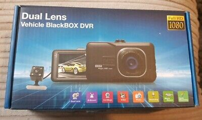 Dual lens dash cam front and rear