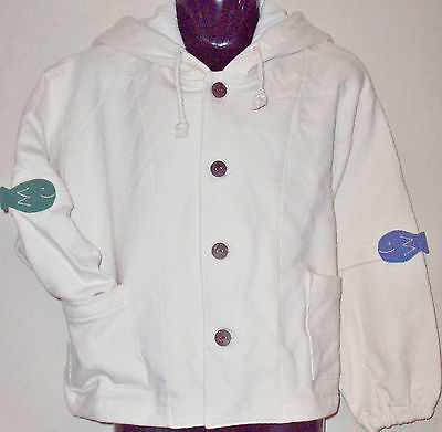 New 100% Cotton Boys Girls Hoodie Hooded Jumper Sweater Small 4-6 Years Cream