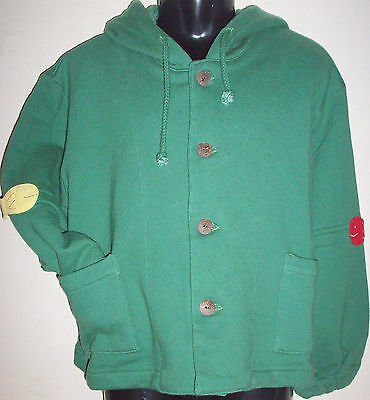New 100% Cotton Boys Girls Hoodie Hooded Jumper Sweater Small 4-6 Years Green
