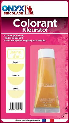 Colorant universel 25 ml Onyx - Jaune or