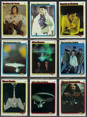 Star Trek The Motion Picture - A Complete Topps 1979 Set + Sticker Set + Wrapper