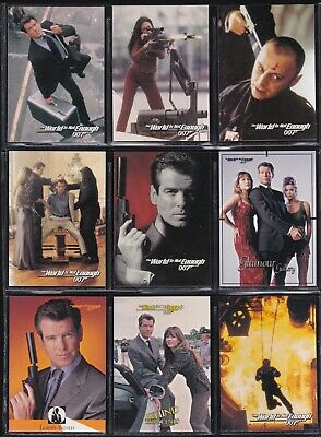James Bond The World Is Not Enough - For Sale Is A Inkworks 1999 Trade Card Set