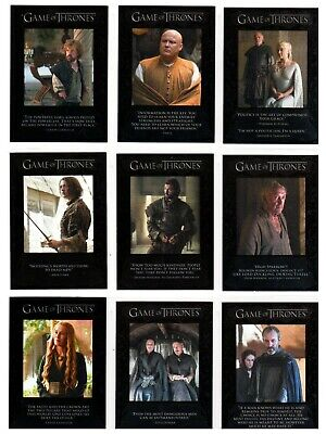 For Sale Is A Game Of Thrones Season 5 Quotable Set Q41 To Q49