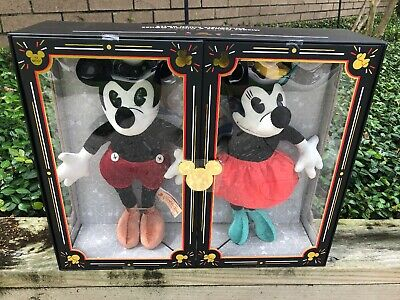 NEw Disney Parks Limited Release Mickey & Minnie Collectable Mouse Plush Set