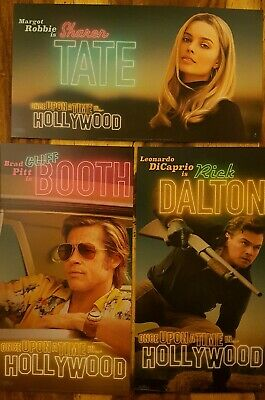 Once Upon A Time In Hollywood Odeon Exclusive Postcards Full Set of 3