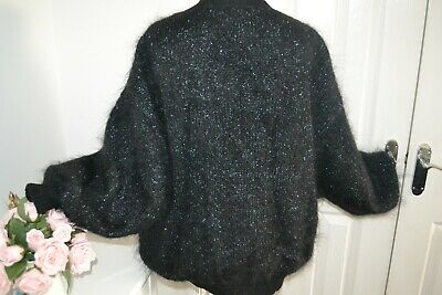Vintage 80s lined glitter Mohair cardigan