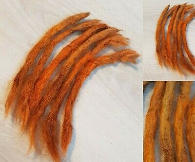 6 Orange Human Hair Dreadlocks