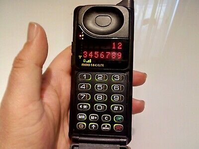 Cellulare Motorola Microtac Elite Led Rossi Vintage Brick Phone Lotto Stock