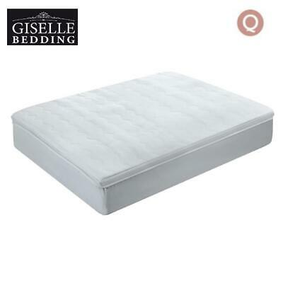 Giselle Bedding 1000GSM Mesh Pillowtop Mattress Topper Protector Cover Queen