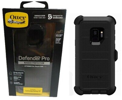 Otterbox Defender Pro Case with Belt Clip Holster for Samsung Galaxy S9 Black
