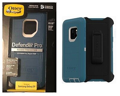 Otterbox Defender Pro Case Belt Clip Holster for Samsung Galaxy S9 Big Sur Blue