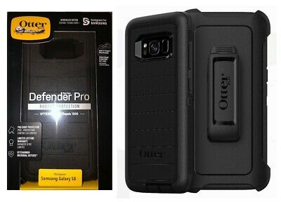Otterbox Defender Pro Case with Belt Clip Holster for Samsung Galaxy S8 Black