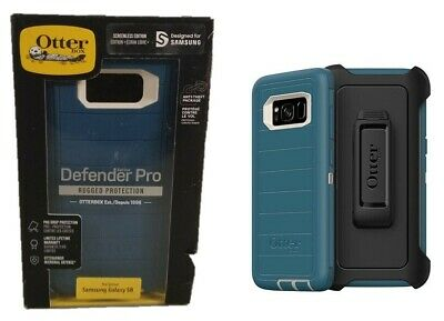 Otterbox Defender Pro Case Belt Clip Holster for Samsung Galaxy S8 Big Sur Blue