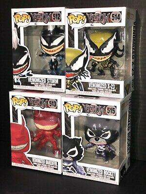 Funko Pop! Marvel Venom Venomized Characters (512, 513, 514, 515)