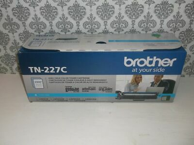 Genuine Sealed OEM Brother TN-227C High-Yield Cyan Toner Cartridge (Box Damage)