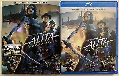 Alita Battle Angel Blu Ray + Dvd 2 Disc Set + Slipcover Sleeve Free Shipping Buy